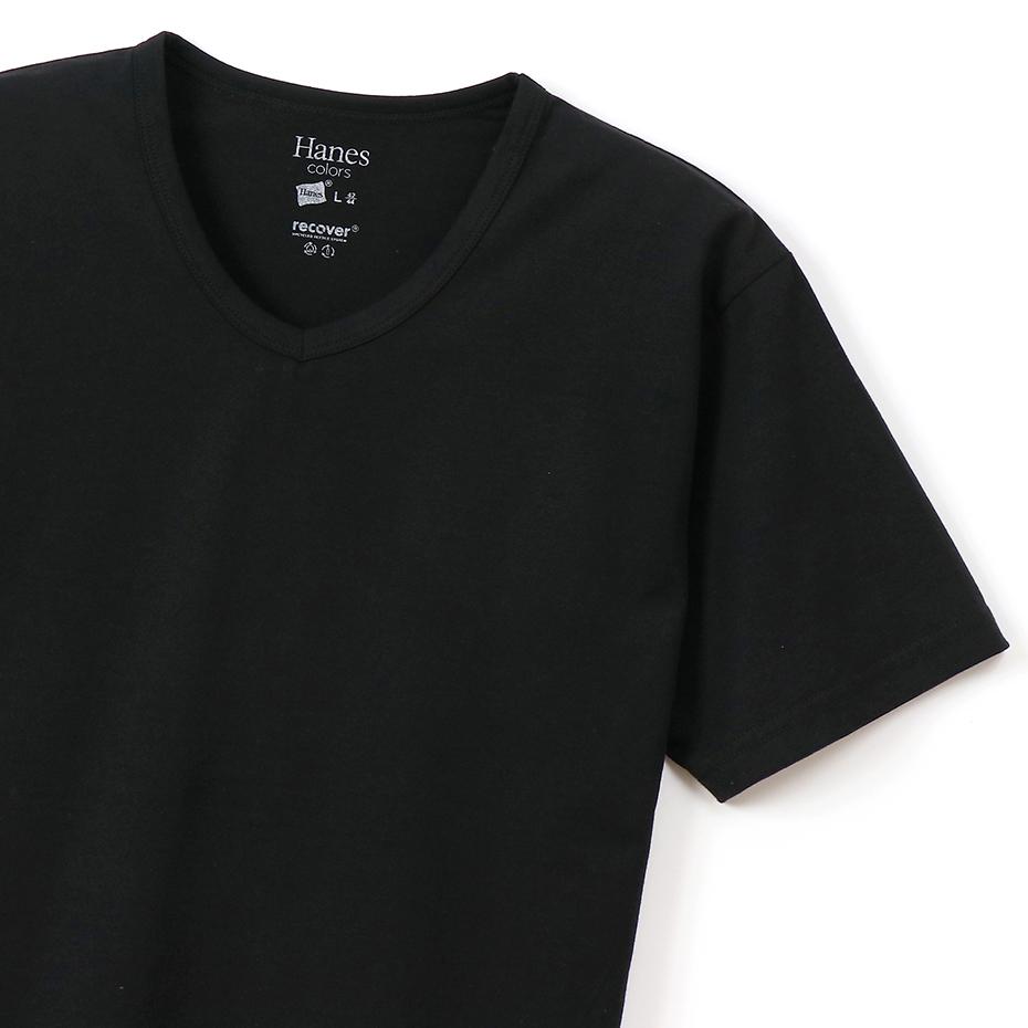 VネックTシャツ Hanes colors ヘインズ (HM1-P102)