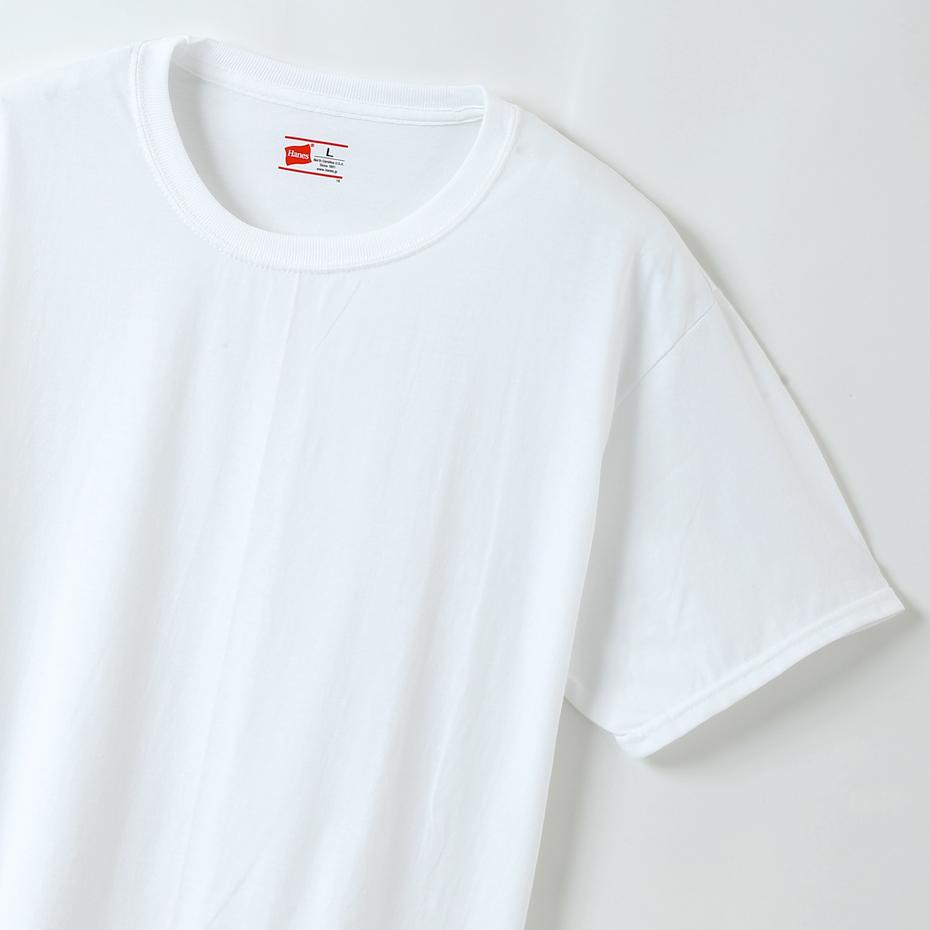 大きいサイズ【2枚組】ビジカジ魂 クルーネックTシャツ 18FW 魂シリーズ ヘインズ(HM1EN701K)