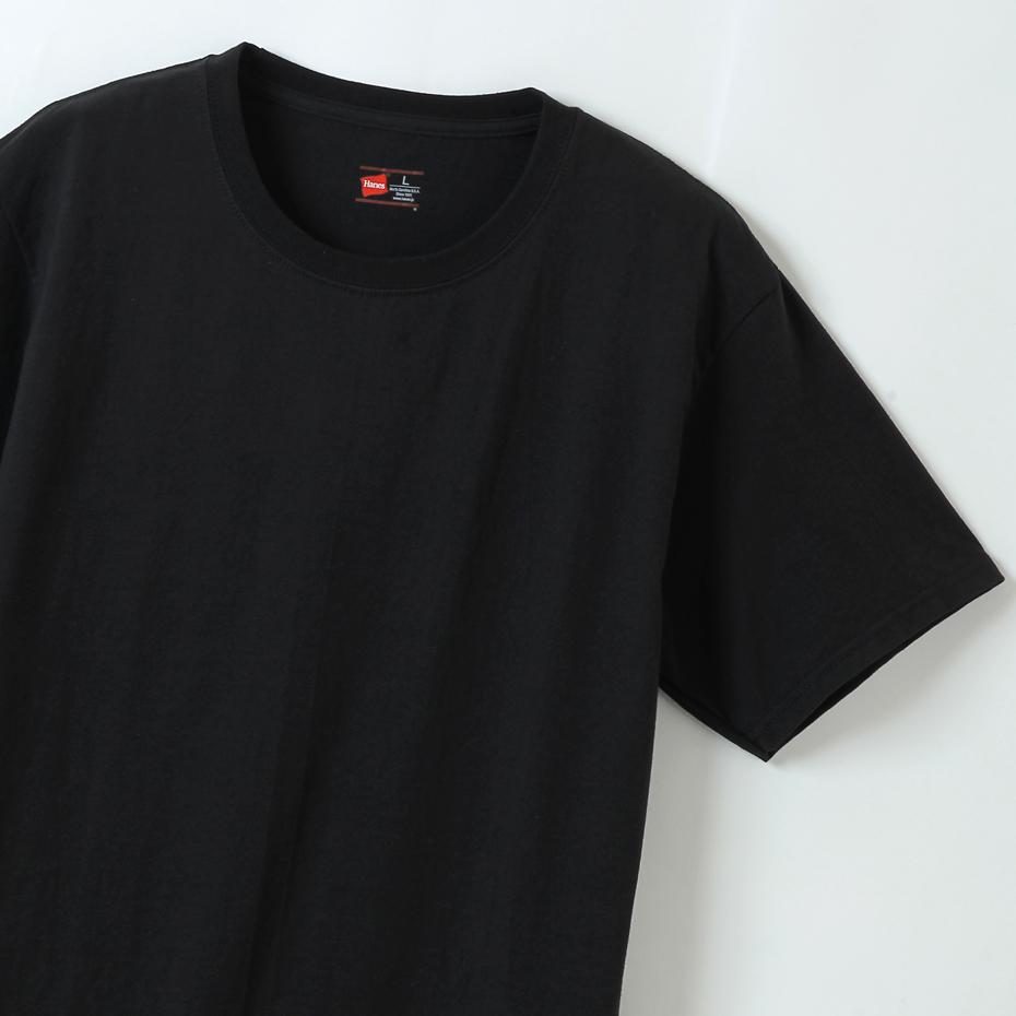 大きいサイズ5L【2枚組】ビジカジ魂 クルーネックTシャツ 20SS 魂シリーズ ヘインズ(HM1EN701K)