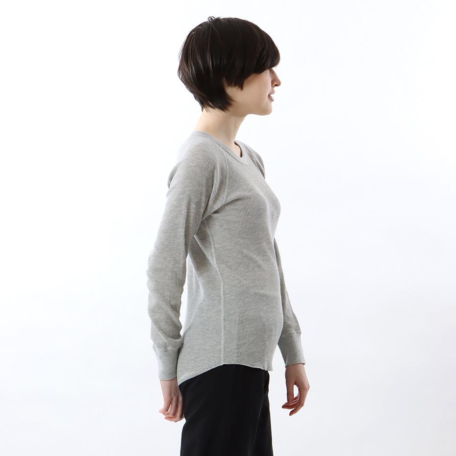 ウィメンズ サーマルクルーネックTシャツ 19FW Hanes Undies ヘインズ(HW4-Q501)