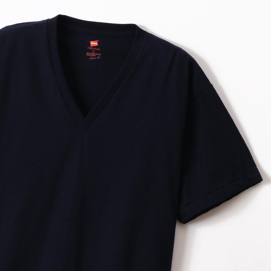 ヘインズ プレミアムジャパンフィット VネックTシャツ 20SS PREMIUM Japan Fit(HM1-F002)