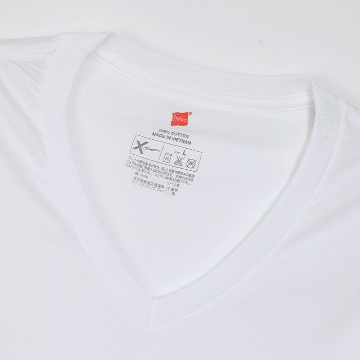 X-TEMP VネックTシャツ 17FW グローバル ヘインズ(HM1EF202)