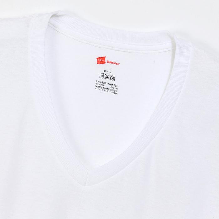 大きいサイズ 【2枚組】オープンエンドVネックTシャツ 20SS グローバルバリューライン ヘインズ(HM1EG754)
