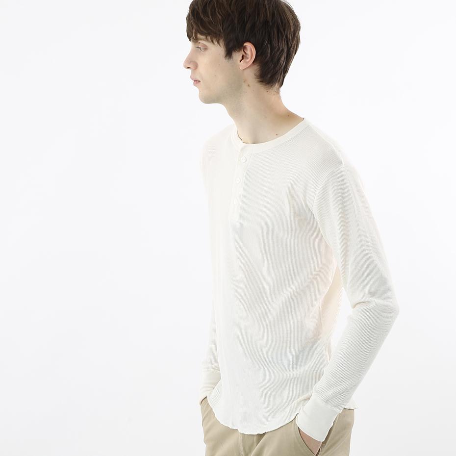 サーマルヘンリーネックロングスリーブTシャツ 18FW ヘインズ(HM4-G503)