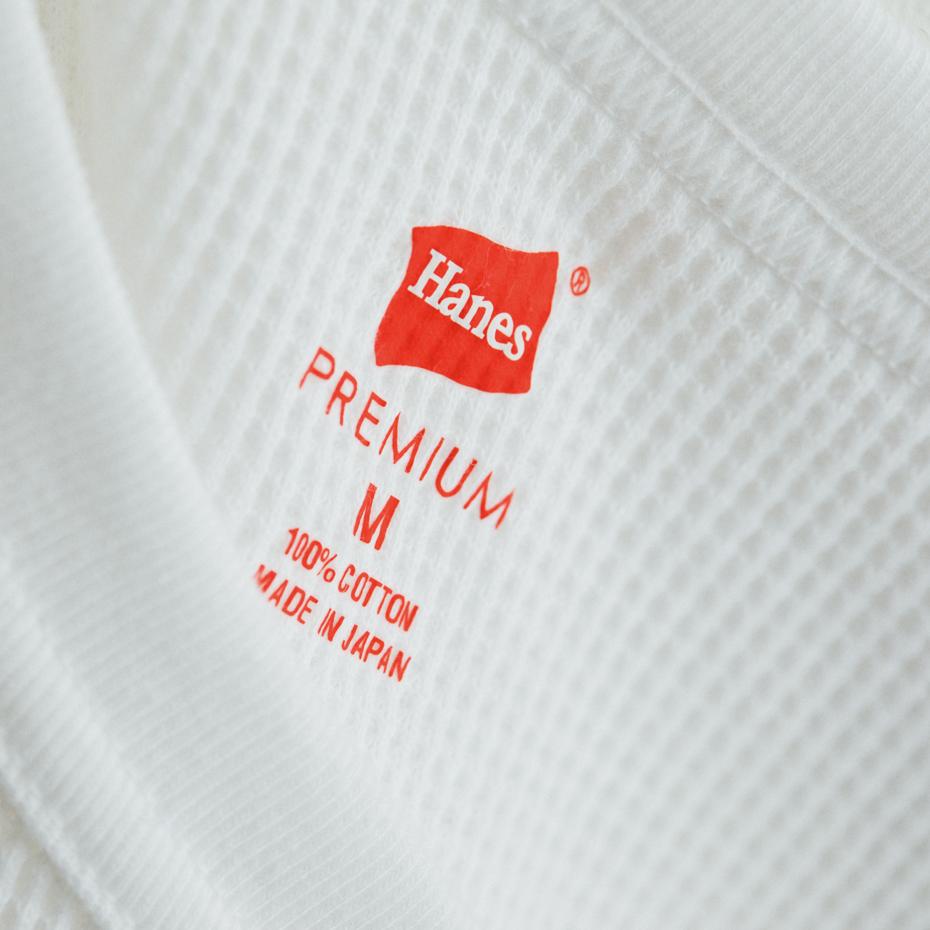 ヘインズ プレミアム クルーネック サーマル ロングスリーブTシャツ PREMIUM ヘインズ(HM4-N001)