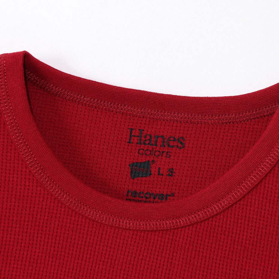 ワッフルロングスリーブ 19FW Hanes colors ヘインズ(HM4-Q101)
