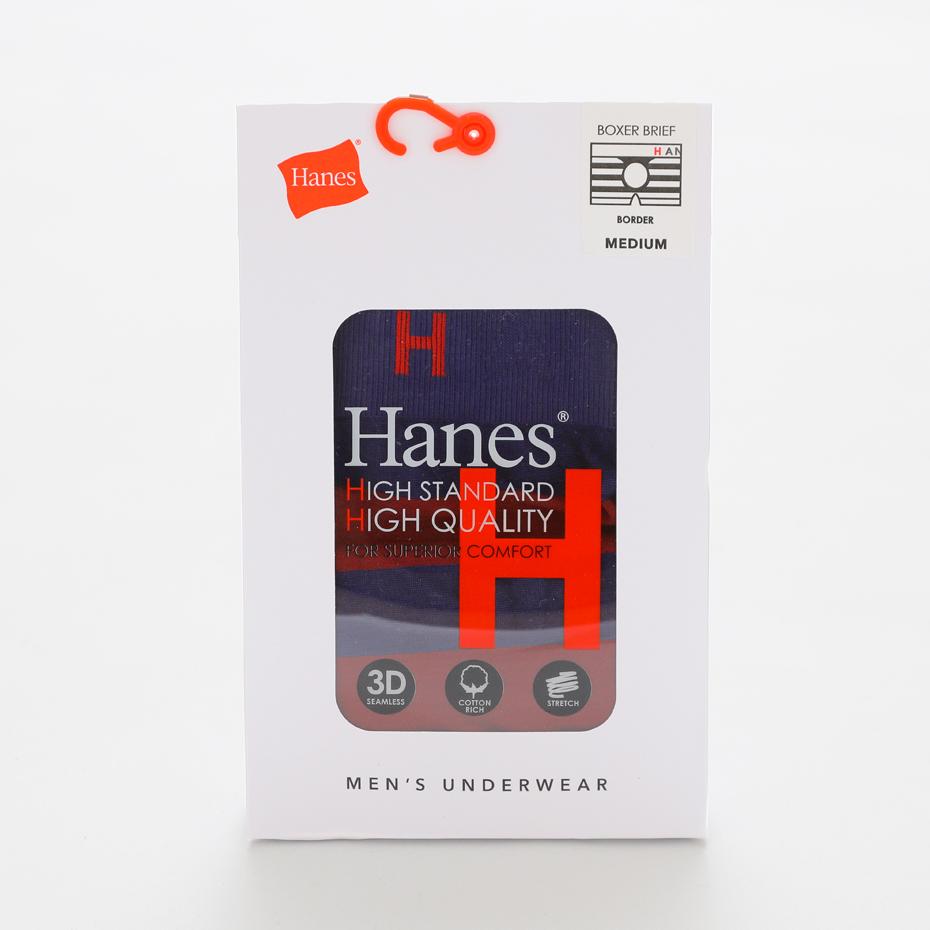 ボーダーシームレスボクサー 18FW Hanes H ヘインズ(HM6-N150)