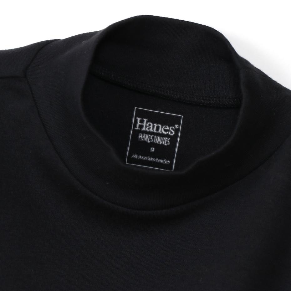 ウィメンズ Warm-T モックネック 20FW Hanes UNDIES Plus+ ヘインズ(HW4-S505)