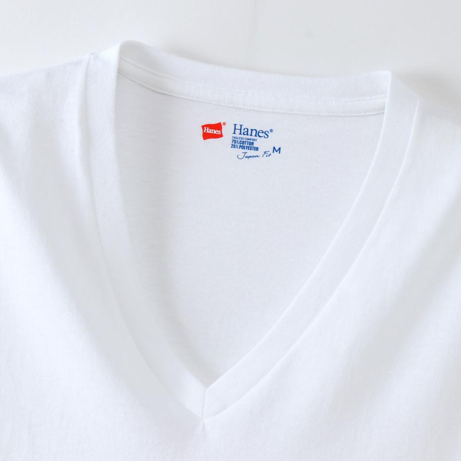 ジャパンフィット ブルーパック【2枚組】VネックTシャツ 18FW Japan Fit ヘインズ(H5225)