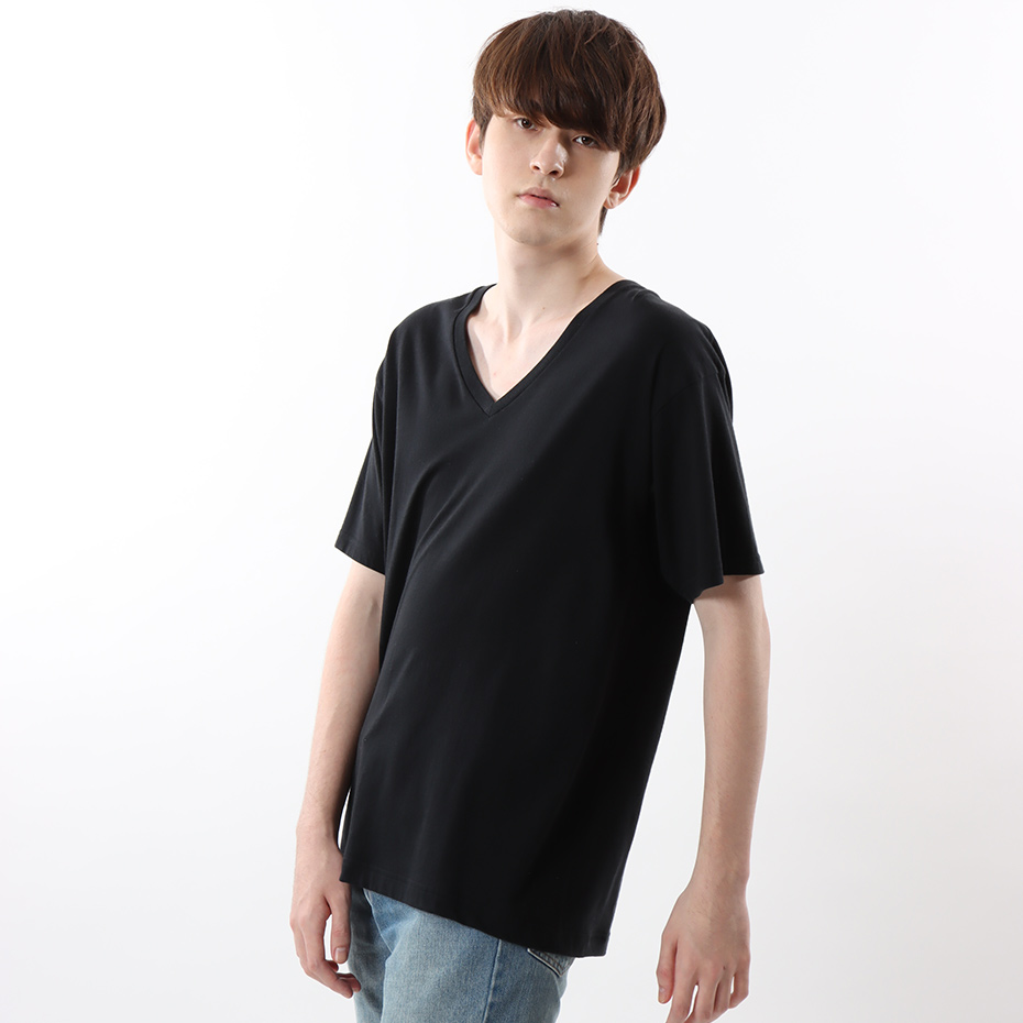 ジャパンフィット【2枚組】VネックTシャツ 5.3oz 19FW Japan Fit ヘインズ(H5325)