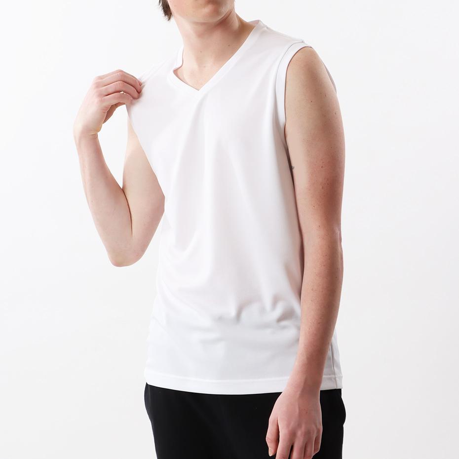 大きいサイズ 【2枚組】部活魂 ノースリーブVネックシャツ 17FW 魂シリーズ ヘインズ(HM3-G704)