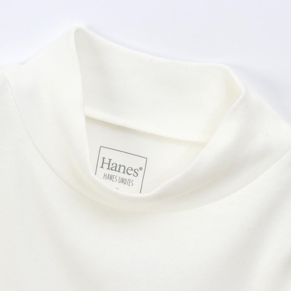 ウィメンズ スウェード ニット モックネック 19FW 【秋冬新作】Hanes Undies ヘインズ(HW4-Q512)