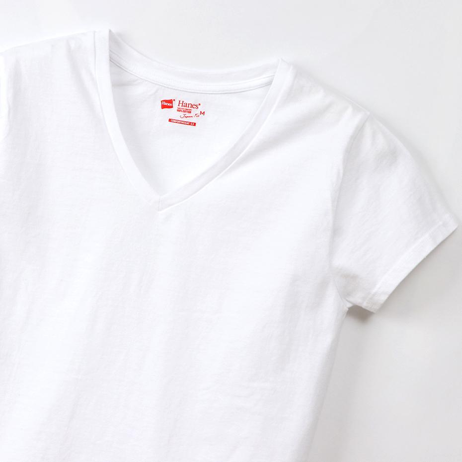 ウィメンズ ジャパンフィット【2枚組】VネックTシャツ 5.3oz 20SS Japan Fit for HER ヘインズ(HW5325)