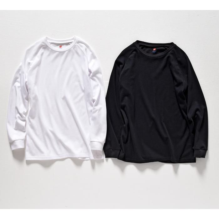 クルーネックラグランロングスリーブTシャツ 17FW Two Layer ヘインズ(HM4-L503)