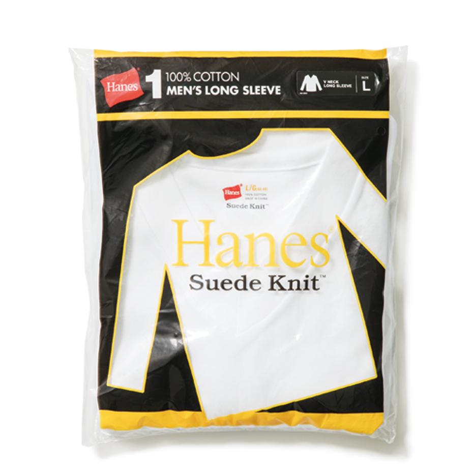 Vネック ロングスリーブTシャツ 18FW スエードニット ヘインズ(HM4-N503)