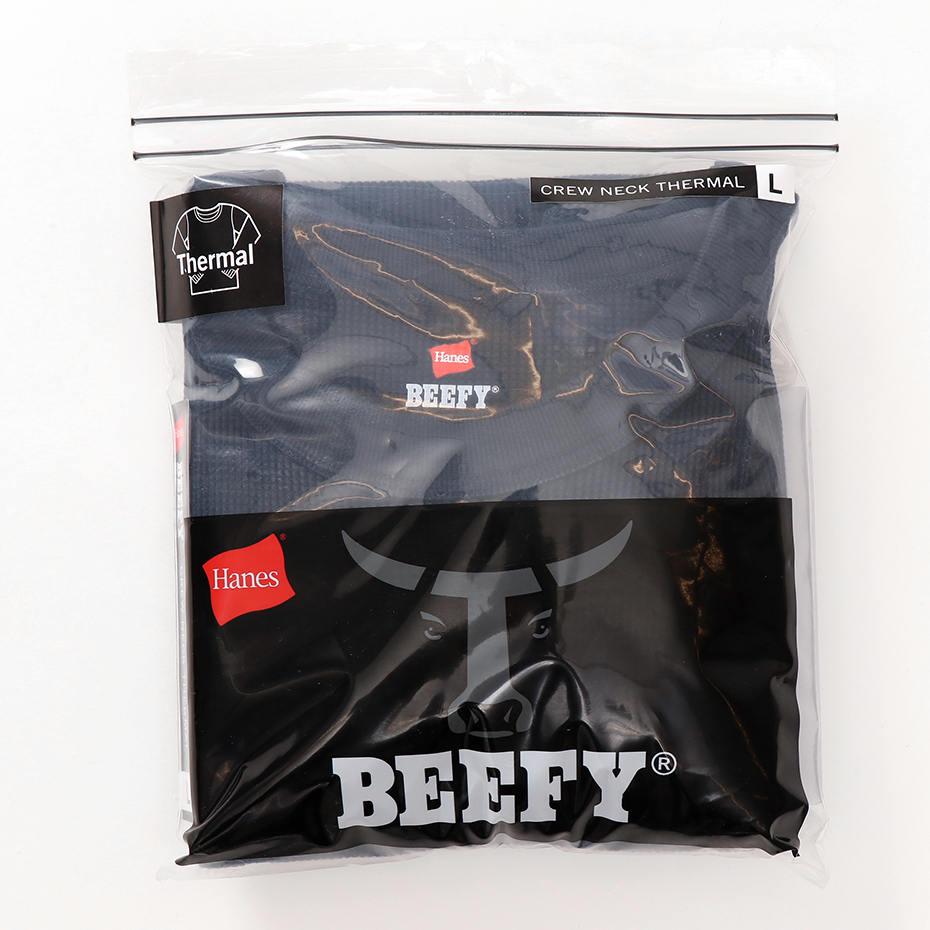 ビーフィーサーマルクルーネックロングスリーブTシャツ 19FW BEEFY-T ヘインズ(HM4-Q103)