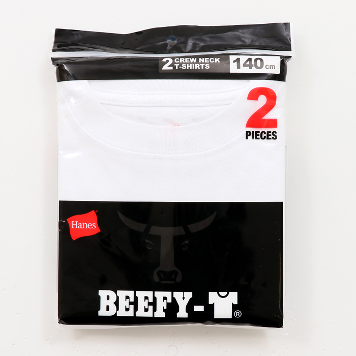キッズ 【2枚組】 ビーフィーTシャツ 17FW BEEFY-T ヘインズ(HS8561)