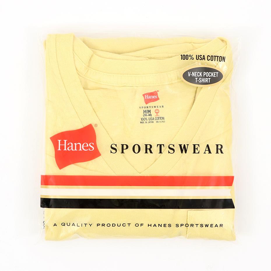 ポケット付きVネックTシャツ ヘインズスポーツウェア ヘインズ(H3-M311)