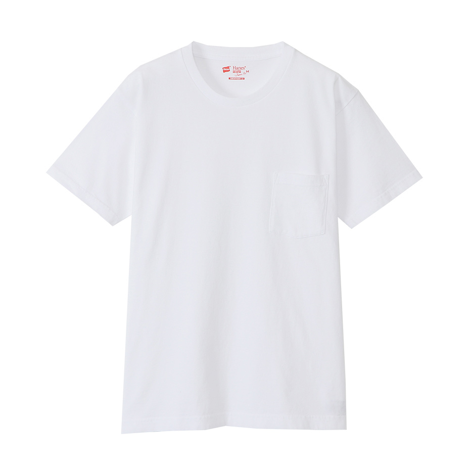ジャパンフィット【2枚組】クルーネックポケットTシャツ 5.3oz 20SS Japan Fit ヘインズ(H5330)