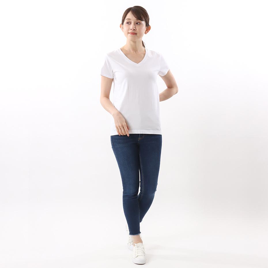 ウィメンズ ジャパンフィット【2枚組】VネックTシャツ 5.3oz 19FW Japan Fit for HER ヘインズ(HW5315)