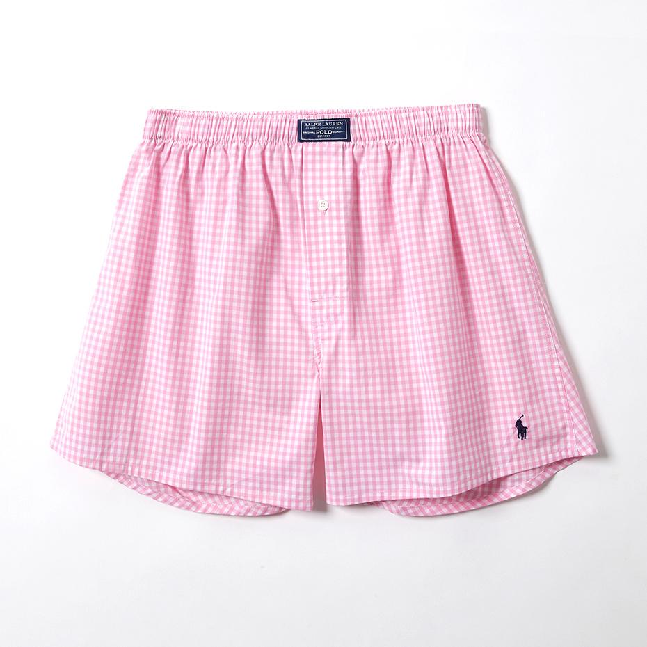 Pink Mini Gigham トランクス 20SS ポロ ラルフ ローレン【前開き】(RM4-Q303)
