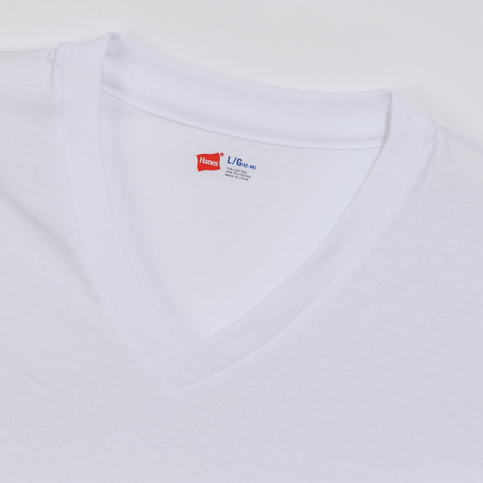 【3枚組】アオラベルVネックTシャツ 20FW 青パック ヘインズ(HM2125G)