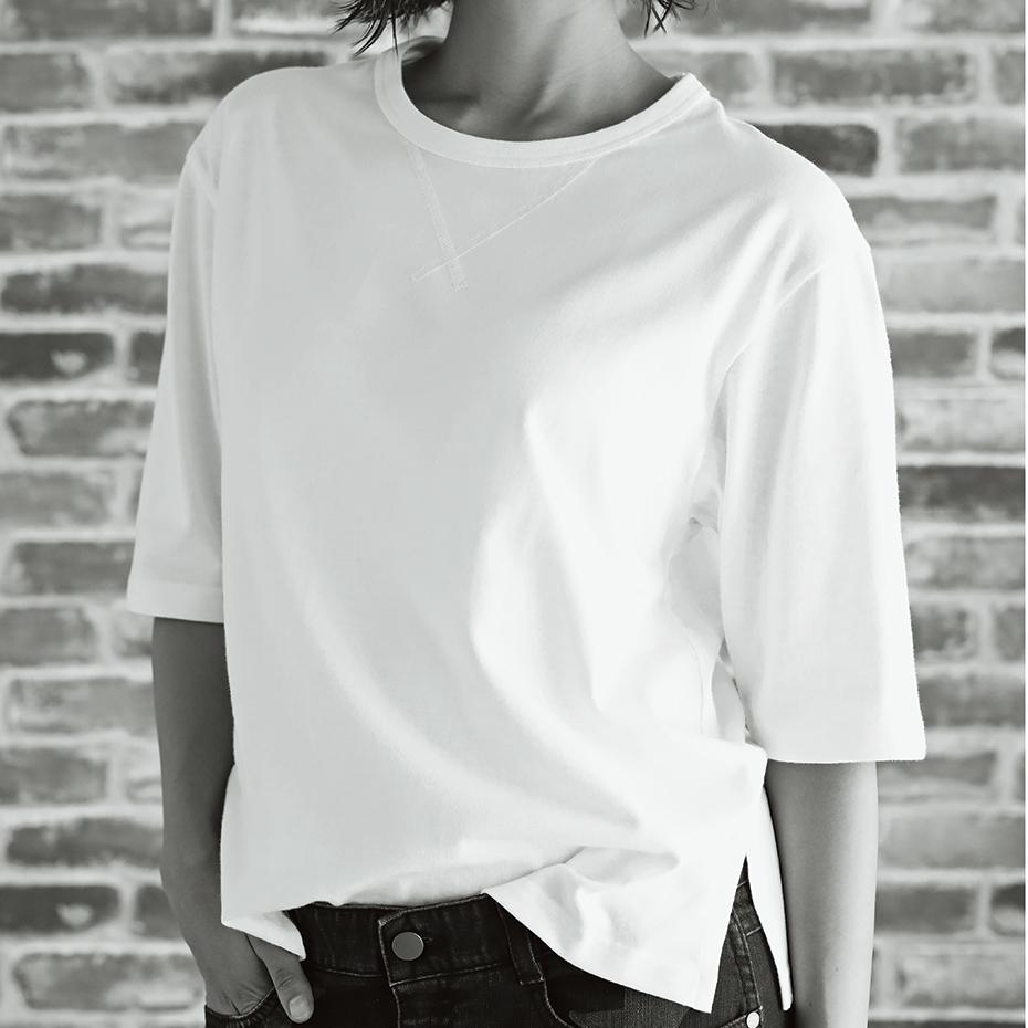 ウィメンズ  Elbow-length 【5分丈】 Tシャツ 19SS【春夏新作】Hanes Undies ヘインズ(HW4-P201)