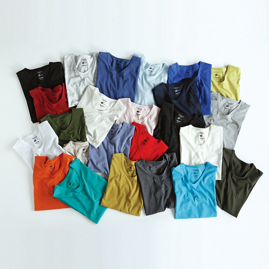 クルーネックTシャツ 19FW Hanes colors ヘインズ(HM1-P101)