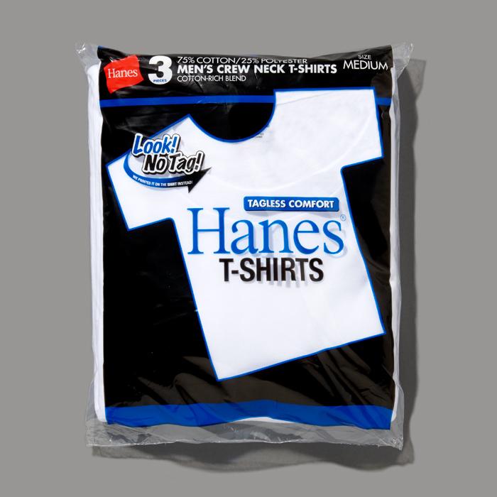 【3枚組】アオラベルクルーネックTシャツ 20FW 青パック ヘインズ(HM2115G)
