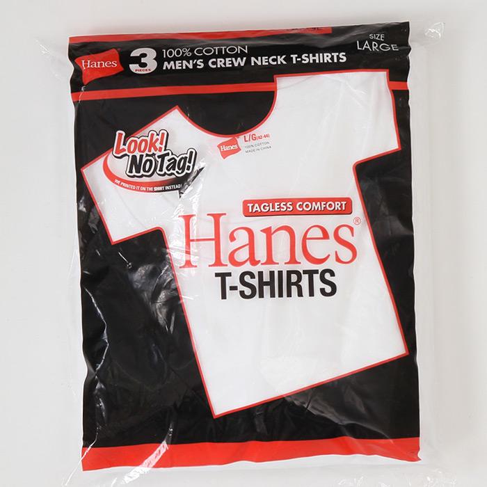 【3枚組】アカラベルクルーネックTシャツ 20FW 赤パック ヘインズ(HM2135G)