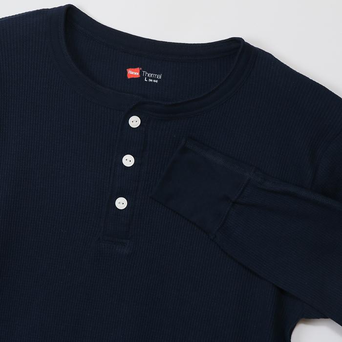 サーマルヘンリーネックロングスリーブTシャツ 17FW ヘインズ(HM4-G503)