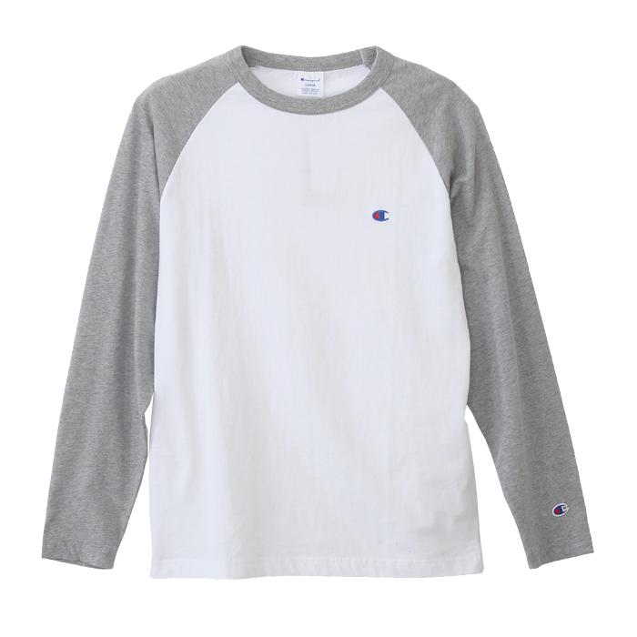 ラグランロングスリーブTシャツ 18FW ベーシック チャンピオン(C3-J425)