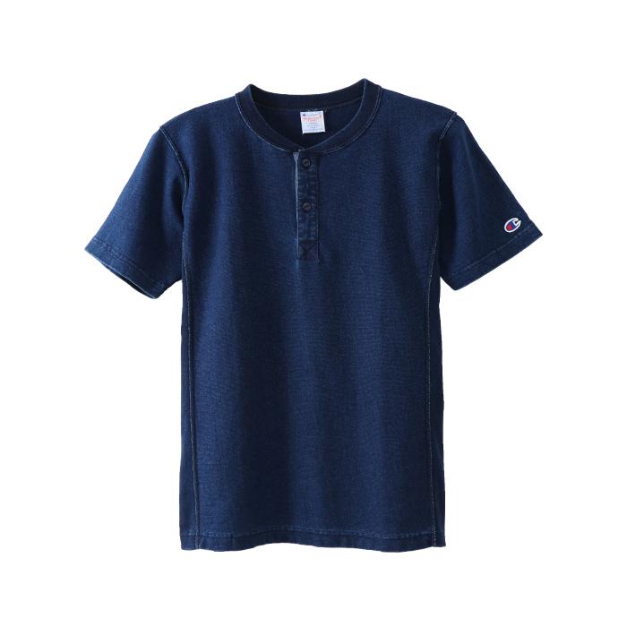 リバースウィーブヘンリーネックTシャツ 18SS 【春夏新作】リバースウィーブ チャンピオン(C3-M305)