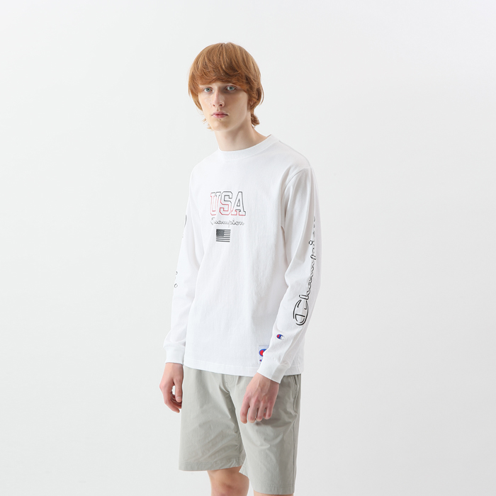 ロングスリーブTシャツ 18SS 【春夏新作】アクションスタイル チャンピオン(C3-M413)