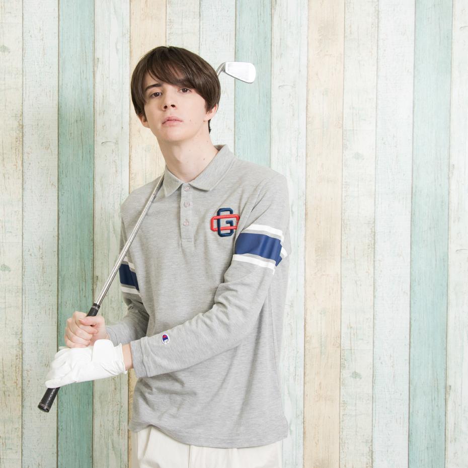 ストレッチロングスリーブポロシャツ 18SS 【春夏新作】GOLF チャンピオン(C3-MS401)