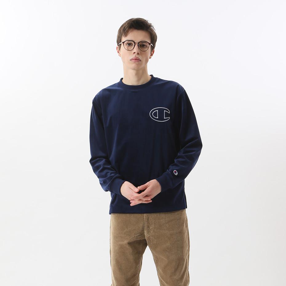 ロングスリーブTシャツ 18FW 【秋冬新作】アクションスタイル チャンピオン(C3-N026)