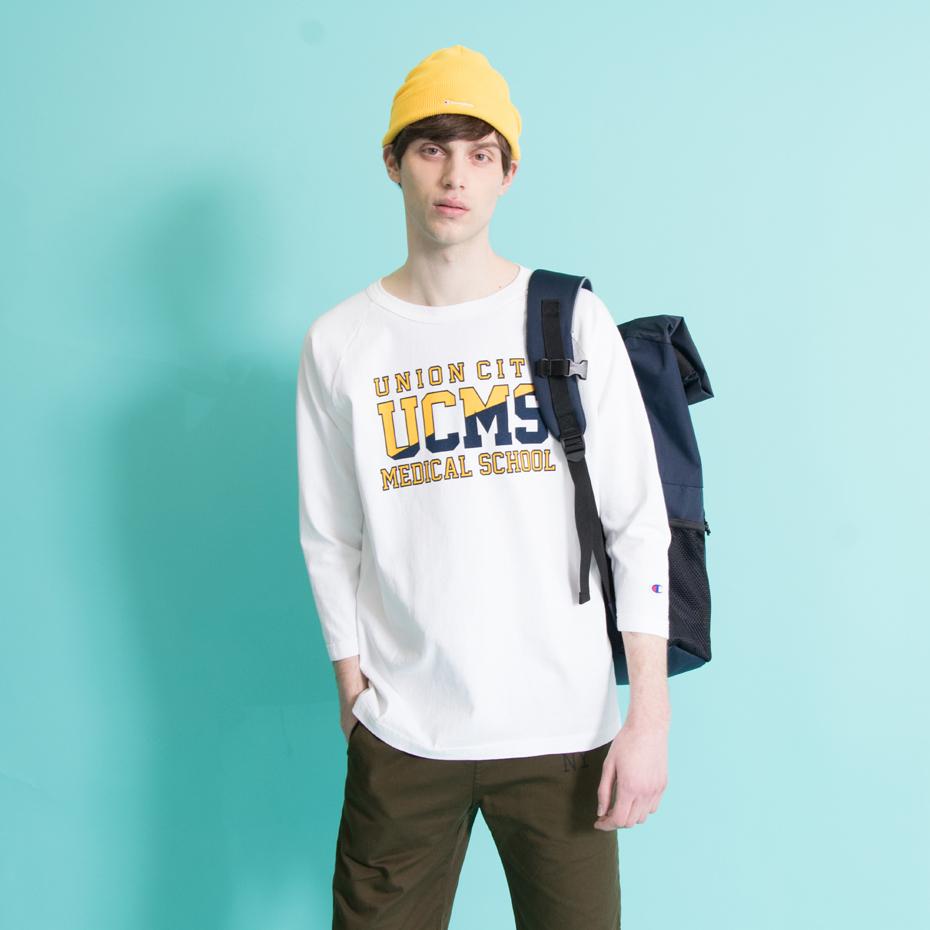 T1011(ティーテンイレブン) ラグラン3/4スリーブ【7分袖】Tシャツ 18SS MADE IN USA チャンピオン(C5-M401)