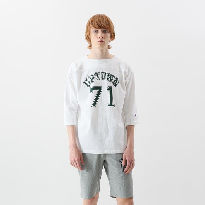 T1011(ティーテンイレブン) ラグラン3/4スリーブ【7分袖】フットボールTシャツ 18SS MADE IN USA チャンピオン(C5-M402)