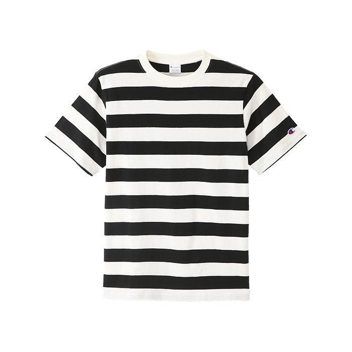 ボーダーTシャツ ブラック   チ...