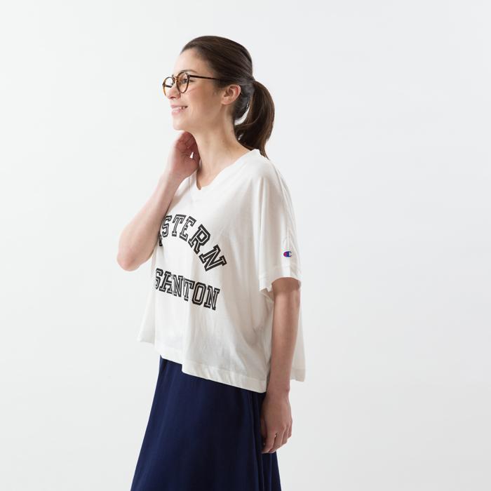 ウィメンズ VネックビッグTシャツ 18SS チャンピオン(CW-M314)