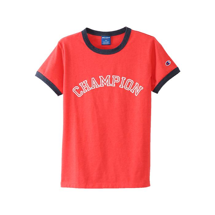 ウィメンズ リンガーTシャツ 18SS アクティブスタイル チャンピオン(CW-MS324)