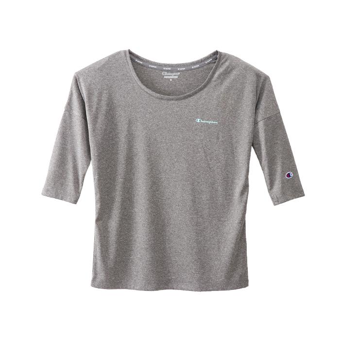 ウィメンズ C VAPOR 8分袖Tシャツ 18SS 【春夏新作】アクティブスタイル チャンピオン(CW-MS406)