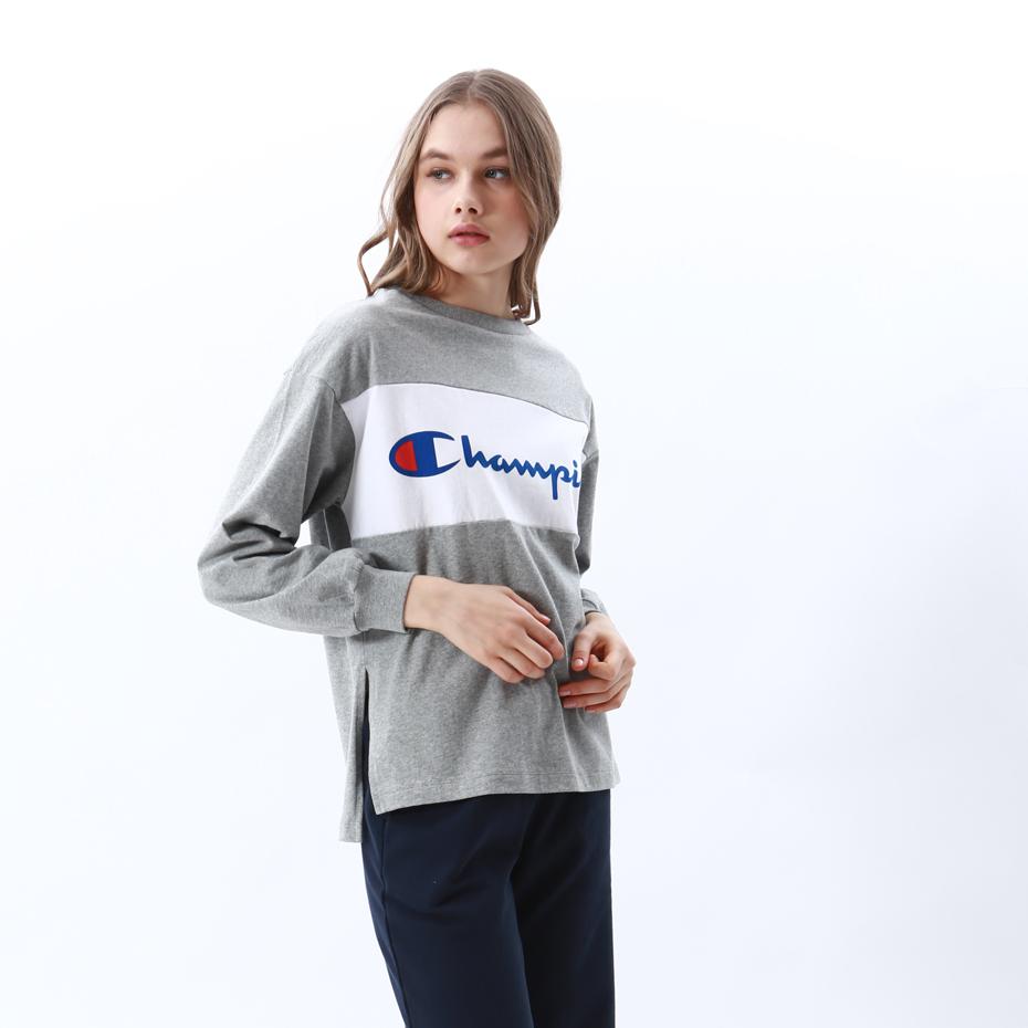 ウィメンズ ロングスリーブTシャツ 18FW 【秋冬新作】チャンピオン(CW-N404)