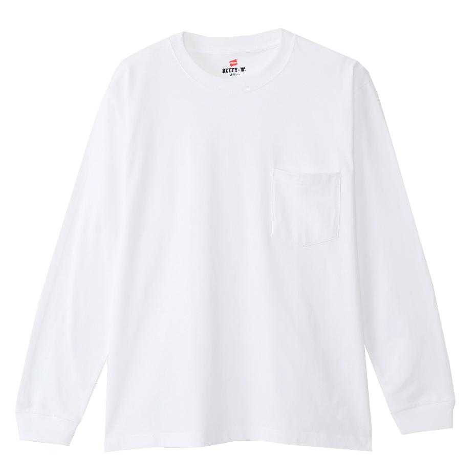 ビーフィーポケットロングスリーブTシャツ 20FW BEEFY-T ヘインズ(H5196)