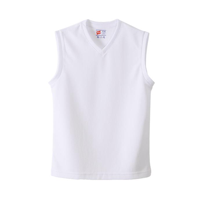 キッズ 【2枚組】 部活魂Vネックスリーブレスシャツ 20FW 魂シリーズ ヘインズ(HB3-H701)