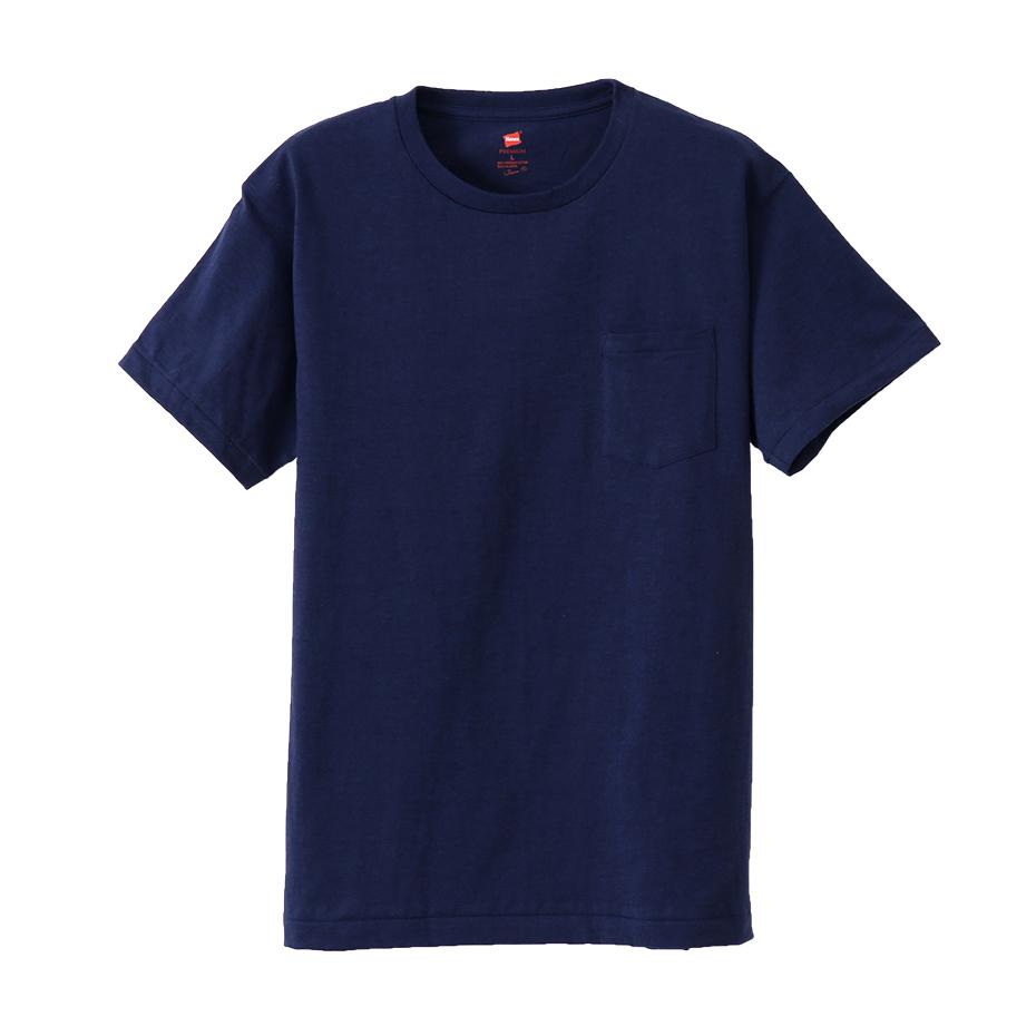 ヘインズ プレミアムジャパンフィット ポケット付クルーネックTシャツ 18SS PREMIUM Japan Fit(HM1-F004)