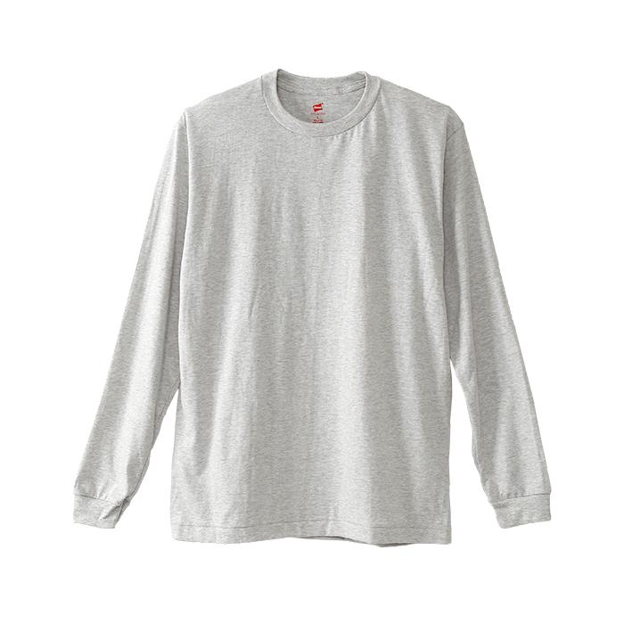 ヘインズ プレミアム クルーネックロングスリーブTシャツ 19SS PREMIUM ヘインズ(HM4-L001)
