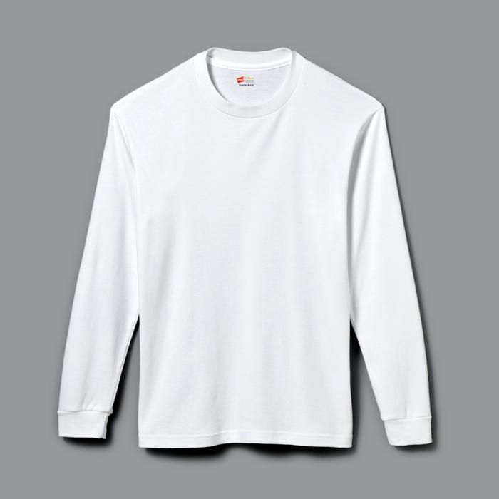クルーネックロングスリーブTシャツ 18FW スエードニット ヘインズ(HM4-L501)