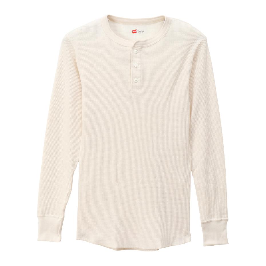 サーマル ヘンリーネックロングスリーブTシャツ 19FW【秋冬新作】 ヘインズ(HM4-Q502)