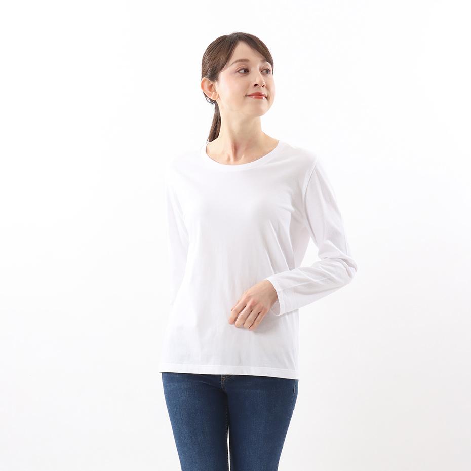 ウィメンズ ジャパンフィット【2枚組】クルーネックロングスリーブTシャツ 5.3oz 20FW Japan Fit for HER ヘインズ(HW5430)
